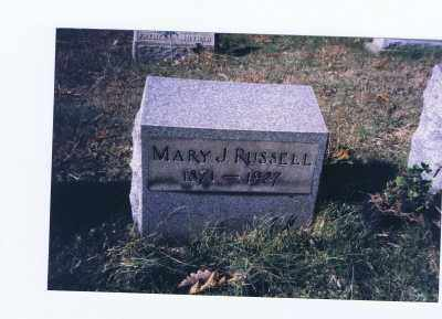 RUSSELL, MARY JANE - Jefferson County, Ohio | MARY JANE RUSSELL - Ohio Gravestone Photos