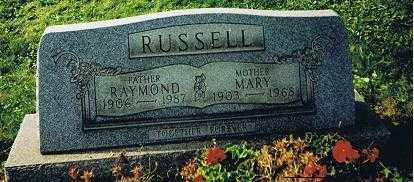 RUSSELL, RAYMOND AND MARY MATILDA - Jefferson County, Ohio | RAYMOND AND MARY MATILDA RUSSELL - Ohio Gravestone Photos