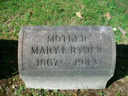 "RYDER, MARY FRANCES ""MAME"" - Jefferson County, Ohio 