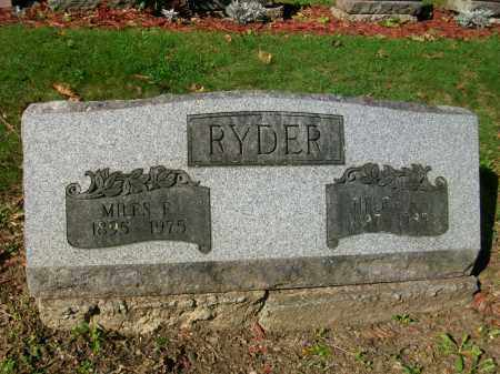 RYDER, MILES EMMET - Jefferson County, Ohio | MILES EMMET RYDER - Ohio Gravestone Photos