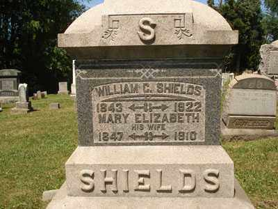 SHIELDS, MARY ELIZABETH - Jefferson County, Ohio | MARY ELIZABETH SHIELDS - Ohio Gravestone Photos