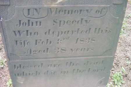 SPEEDY, JOHN - Jefferson County, Ohio | JOHN SPEEDY - Ohio Gravestone Photos