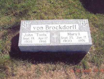 "VON BROCKDORFF, JOHN ""TOOTS"" - Jefferson County, Ohio 