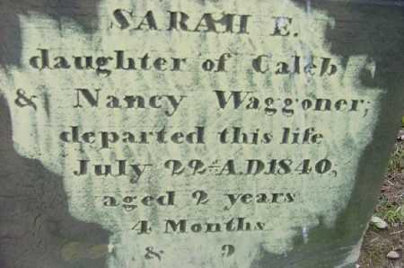 WAGGONER,, SARAH E. - Jefferson County, Ohio | SARAH E. WAGGONER, - Ohio Gravestone Photos