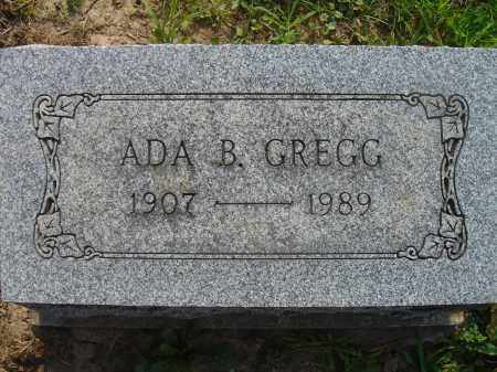 BONNER GREGG, ADA - Knox County, Ohio | ADA BONNER GREGG - Ohio Gravestone Photos