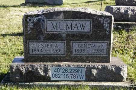MUMAW, LESTER A. - Knox County, Ohio | LESTER A. MUMAW - Ohio Gravestone Photos