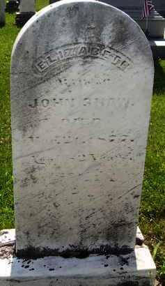 SHAW, ELILZABETH - Knox County, Ohio | ELILZABETH SHAW - Ohio Gravestone Photos