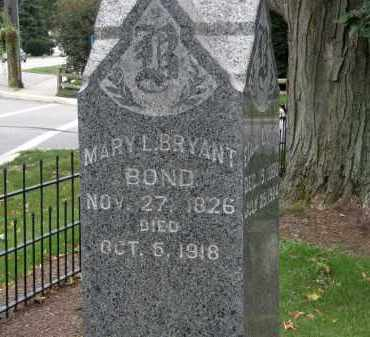 BRYANT BOND, MARY L. - Lake County, Ohio | MARY L. BRYANT BOND - Ohio Gravestone Photos