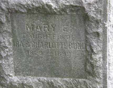 BOND, MARY E. - Lake County, Ohio | MARY E. BOND - Ohio Gravestone Photos
