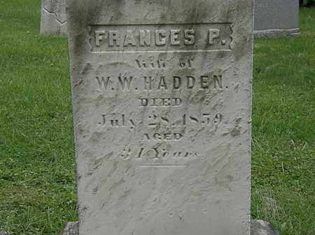 HADDEN, FRANCES P. - Lake County, Ohio | FRANCES P. HADDEN - Ohio Gravestone Photos