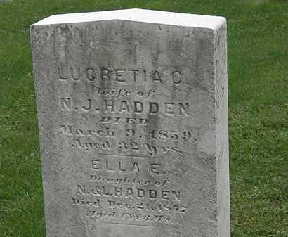 HADDEN, ELLA E. - Lake County, Ohio | ELLA E. HADDEN - Ohio Gravestone Photos