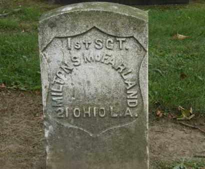 MCFARLAND, MILTON - Lake County, Ohio | MILTON MCFARLAND - Ohio Gravestone Photos