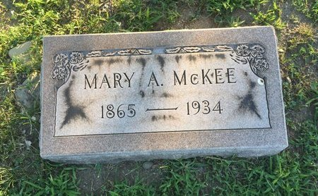 MCKEE, MARY A. - Lake County, Ohio | MARY A. MCKEE - Ohio Gravestone Photos