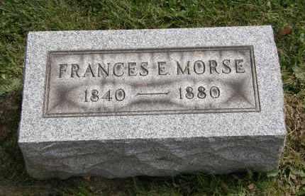 MORSE, FRANCES E - Lake County, Ohio | FRANCES E MORSE - Ohio Gravestone Photos
