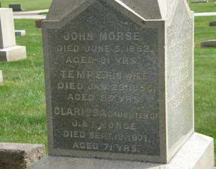 MORSE, TEMPE - Lake County, Ohio | TEMPE MORSE - Ohio Gravestone Photos