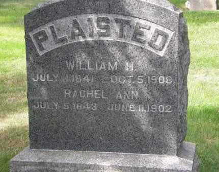 PLAISTED, WILLIAM H. - Lake County, Ohio | WILLIAM H. PLAISTED - Ohio Gravestone Photos