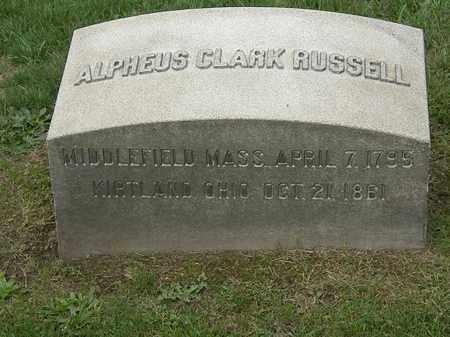 RUSSELL, ALPHEUS CLARK - Lake County, Ohio | ALPHEUS CLARK RUSSELL - Ohio Gravestone Photos