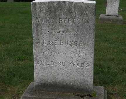 RUSSELL, MARY REBECCA - Lake County, Ohio | MARY REBECCA RUSSELL - Ohio Gravestone Photos