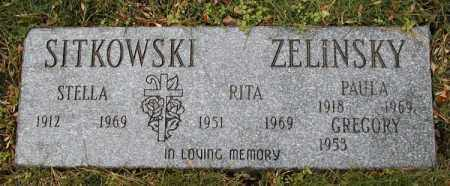 ZELINSKY, RITA - Lake County, Ohio | RITA ZELINSKY - Ohio Gravestone Photos