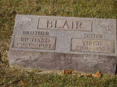 BLAIR, RICHARD - Lawrence County, Ohio | RICHARD BLAIR - Ohio Gravestone Photos