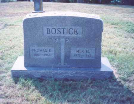 BOSTICK, THOMAS E. - Lawrence County, Ohio | THOMAS E. BOSTICK - Ohio Gravestone Photos