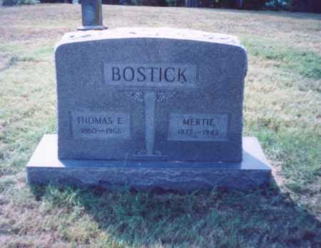 BOSTICK, MERTIE - Lawrence County, Ohio | MERTIE BOSTICK - Ohio Gravestone Photos