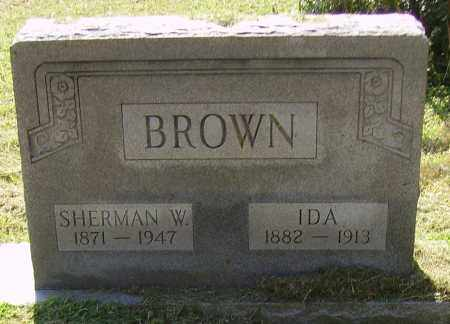 BROWN, SHERMAN W - Lawrence County, Ohio | SHERMAN W BROWN - Ohio Gravestone Photos