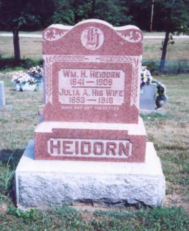 HEIDORN, WM. H. - Lawrence County, Ohio | WM. H. HEIDORN - Ohio Gravestone Photos