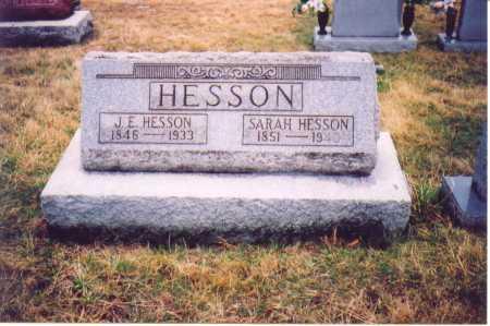 HESSON, J. E. - Lawrence County, Ohio | J. E. HESSON - Ohio Gravestone Photos