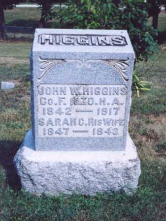 HIGGINS, JOHN W. - Lawrence County, Ohio | JOHN W. HIGGINS - Ohio Gravestone Photos