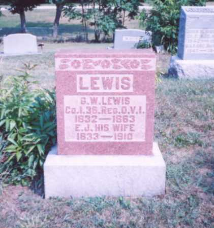 LEWIS, E. J. - Lawrence County, Ohio | E. J. LEWIS - Ohio Gravestone Photos