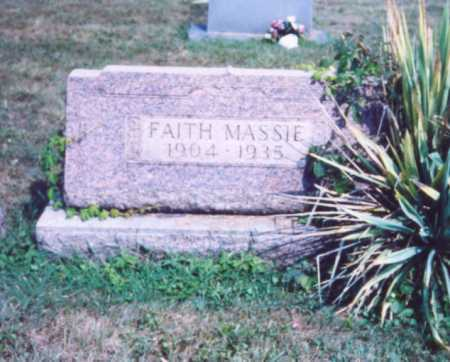 MASSIE, FAITH - Lawrence County, Ohio | FAITH MASSIE - Ohio Gravestone Photos