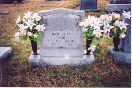 NASH, MARK ALLEN - Lawrence County, Ohio   MARK ALLEN NASH - Ohio Gravestone Photos