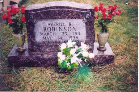 ROBINSON, AVERILL R. - Lawrence County, Ohio | AVERILL R. ROBINSON - Ohio Gravestone Photos