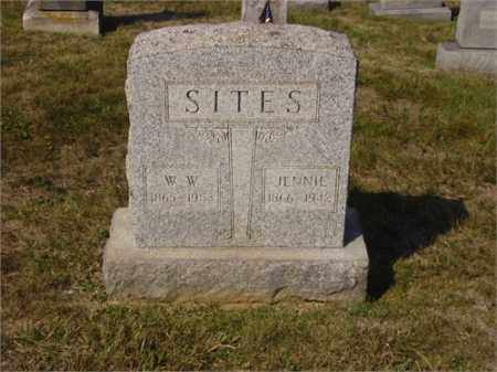 SITES, WILLIAM WILSON - Lawrence County, Ohio | WILLIAM WILSON SITES - Ohio Gravestone Photos