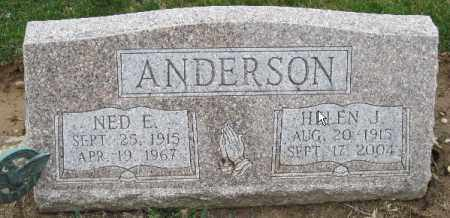 ANDERSON, NED E - Licking County, Ohio | NED E ANDERSON - Ohio Gravestone Photos