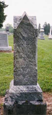 BAKER, HENRY - Licking County, Ohio | HENRY BAKER - Ohio Gravestone Photos