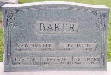BAKER, LEVI HUGH - Licking County, Ohio | LEVI HUGH BAKER - Ohio Gravestone Photos