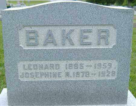 BAKER, JOSEPHINE HORTENSE - Licking County, Ohio | JOSEPHINE HORTENSE BAKER - Ohio Gravestone Photos