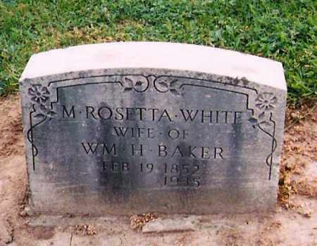 BAKER, MARY ROSETTA - Licking County, Ohio | MARY ROSETTA BAKER - Ohio Gravestone Photos
