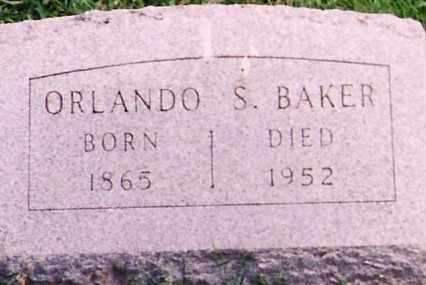 BAKER, ORLANDO SPENCER - Licking County, Ohio | ORLANDO SPENCER BAKER - Ohio Gravestone Photos