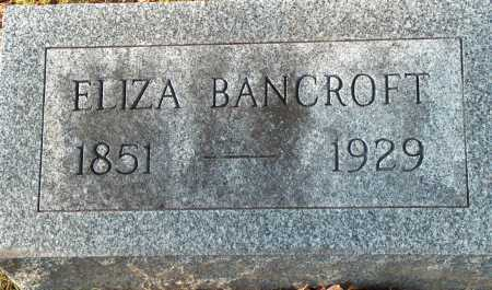 BANCROFT, ELIZA - Licking County, Ohio | ELIZA BANCROFT - Ohio Gravestone Photos