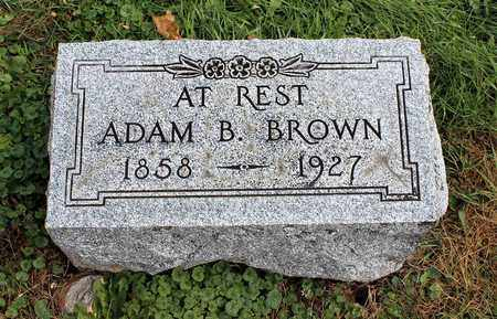 BROWN, ADAM B. - Licking County, Ohio | ADAM B. BROWN - Ohio Gravestone Photos