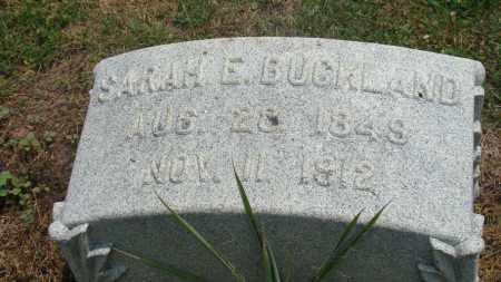 BUCKLAND, SARAH E. - Licking County, Ohio | SARAH E. BUCKLAND - Ohio Gravestone Photos