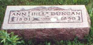 FRANCIS DUNCAN, ANN HILL - Licking County, Ohio | ANN HILL FRANCIS DUNCAN - Ohio Gravestone Photos
