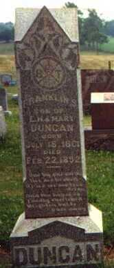 DUNCAN, FRANKLIN S. - Licking County, Ohio | FRANKLIN S. DUNCAN - Ohio Gravestone Photos