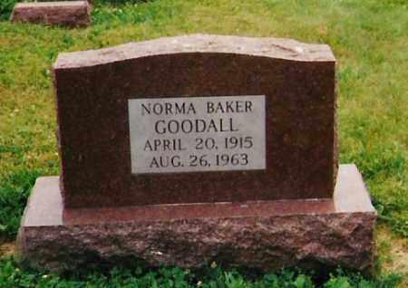 BAKER GOODALL, NORMA L. - Licking County, Ohio | NORMA L. BAKER GOODALL - Ohio Gravestone Photos