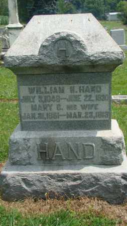 HAND, WILLIAM H. - Licking County, Ohio | WILLIAM H. HAND - Ohio Gravestone Photos