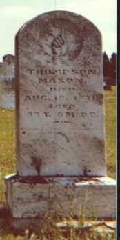 MASON, THOMPSON - Licking County, Ohio | THOMPSON MASON - Ohio Gravestone Photos