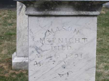 MCKNIGHT, MASON - Licking County, Ohio | MASON MCKNIGHT - Ohio Gravestone Photos